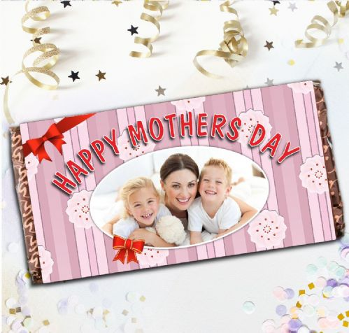 Personalised Mothers Day Milk Chocolate Bar - Happy Mothers Day Gift N1